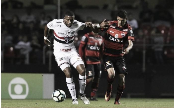 Na estreia de Dorival Júnior, São Paulo empata com Atlético-GO em casa e amplia jejum de vitórias