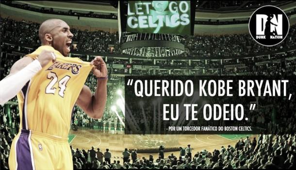 Maior rival dos Lakers, torcedor do Boston Celtics escreve carta de despedida para Kobe Bryant