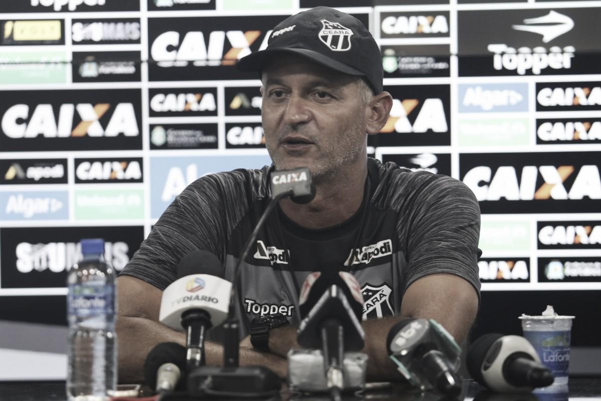 """Lisca lamenta chances perdidas pelo Ceará: """"Poderíamos ter brigado pela vitória"""""""