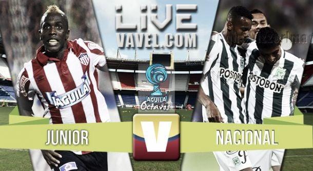 Resultado Junior - Atlético Nacional en Liga Águila II 2015 (2-0)