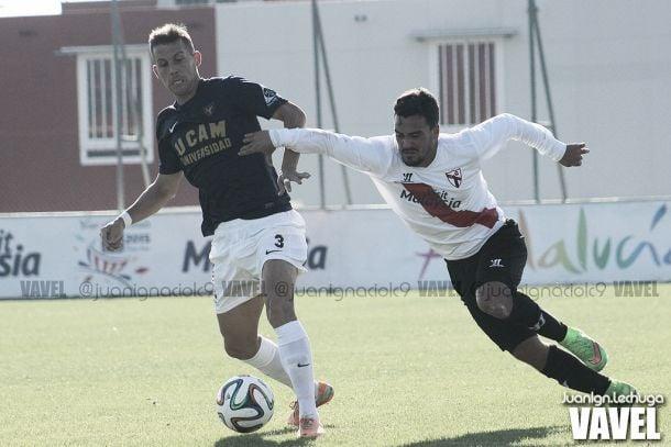 Resultado UCAM Murcia vs Sevilla Atlético en el grupo IV de Segunda B (1-0)