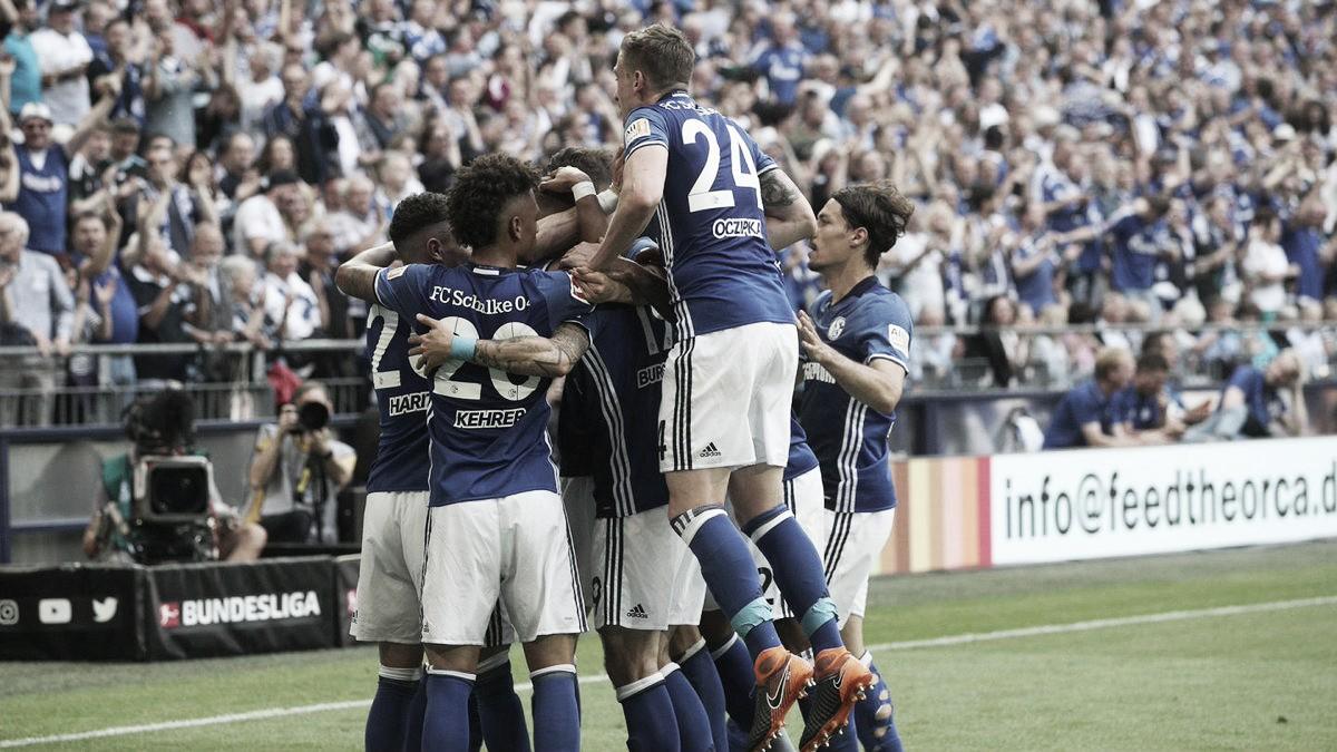 Schalke bate Frankfurt e garante vice-campeonato da Bundesliga
