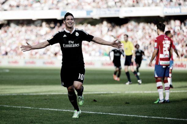 Con doblete de James el Real Madrid golea al Granada