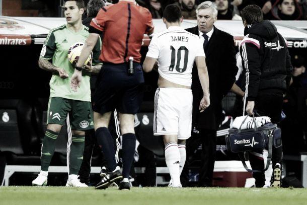 """""""Es una lesión muy pequeña"""" Ancelotti sobre James Rodríguez"""