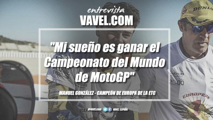 """Entrevista.Manu González:""""Misueño esganar el Campeonato del Mundo de MotoGP"""""""