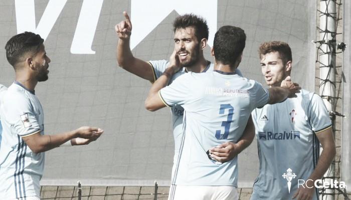 Un Celta B con 10 vence en el derbi ante el Pontevedra