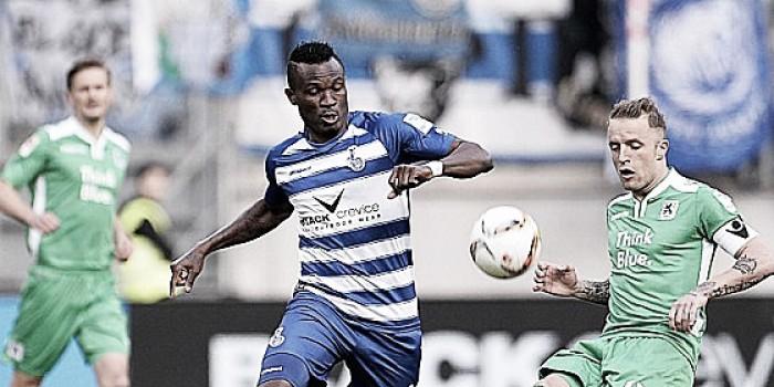 MSV Duisburg 2-1 1860 Munich: Debatable decisions aplenty as Zebras secure three vital points