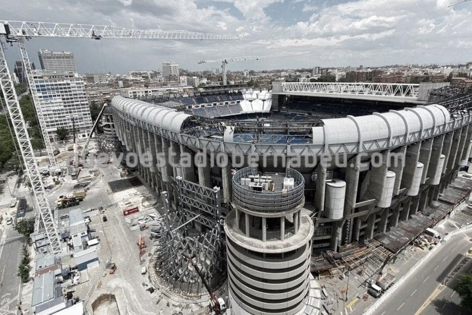 Las obras del Nuevo Bernabéu van cogiendo forma