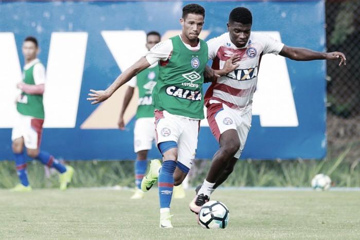 Em rápida apresentação e trabalhos leves, Bahia inicia preparação para jogo contra Santos