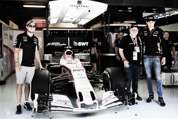Pérez y Ocon, en paz tras el incidente de Spa