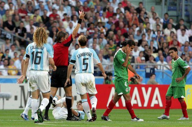 Partido de octavos de final de México en el anterior Mundial