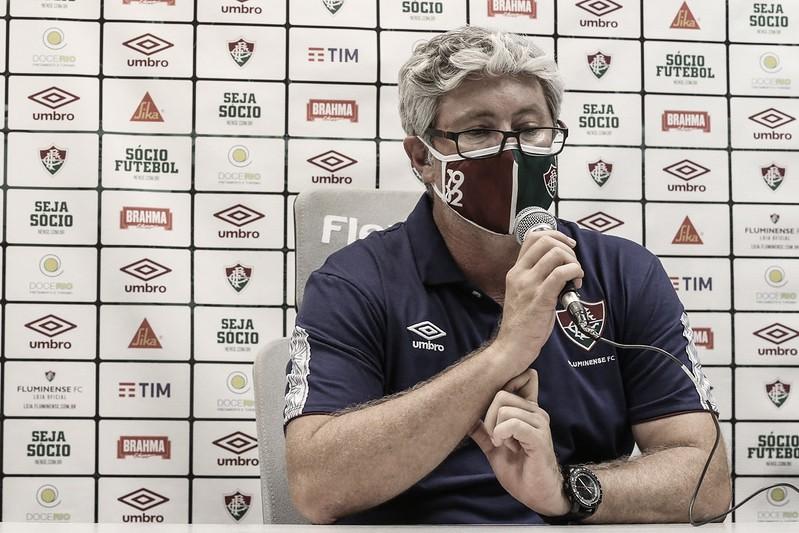 """Odair Hellmann analisa desempenho do Fluminense em empate: """"Jogo disputado e de poucas chances"""""""
