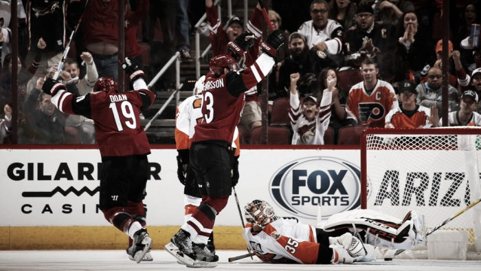 Arizona Coyotes open season with overtime win against Philadelphia Flyers