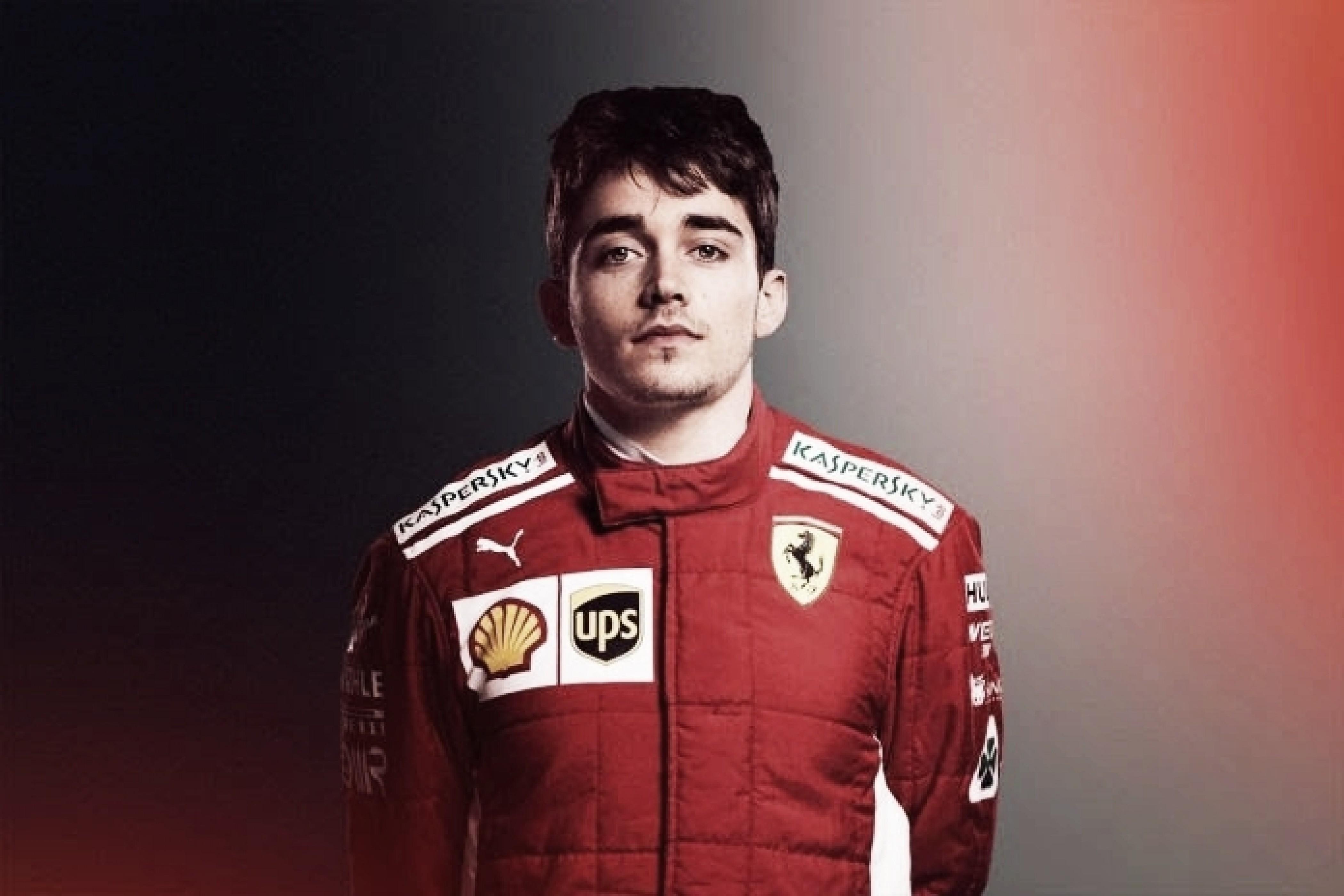 Leclerc firmó con Ferrari