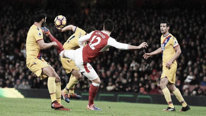 Premier League, Giroud incanta l'Emirates: l'Arsenal piega il Crystal Palace 2-0