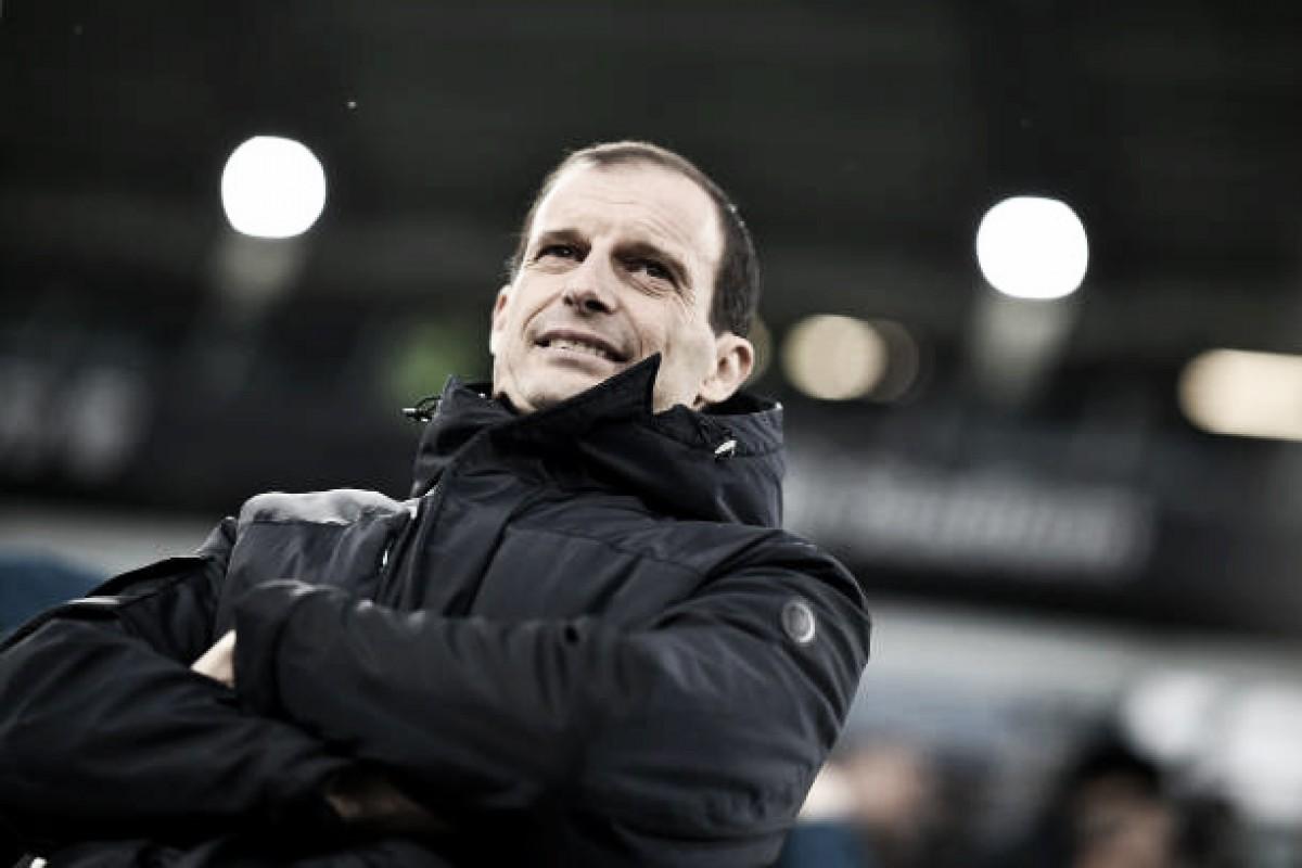 Allegri parabeniza Juventus por estar viva nas três competições da temporada