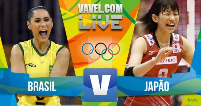 Brasil vence Japão no vôlei feminino no Rio 2016 por 3 a 0