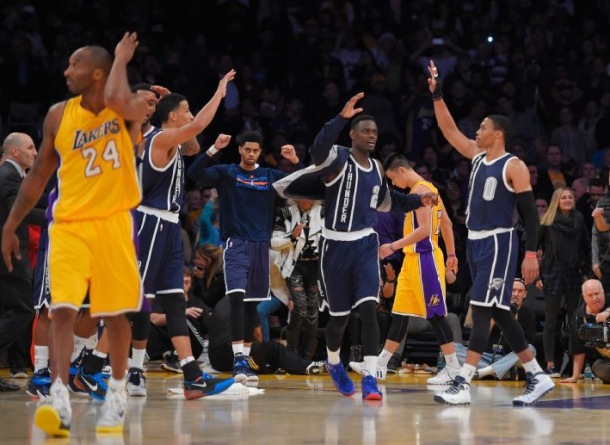 Los Angeles Lakers Lose To Kevin Durant-Less Oklahoma City Thunder In A Close Game