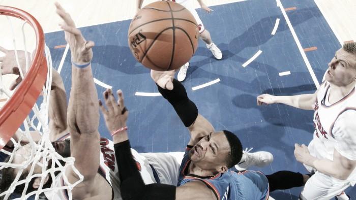 Westbrook faz novo triplo-duplo, Thunder se recupera e vence Knicks fora de casa