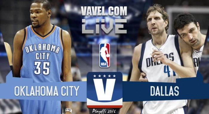 Score Dallas Mavericks - Oklahoma City Thunder in 2016 NBA Playoffs (70-108)