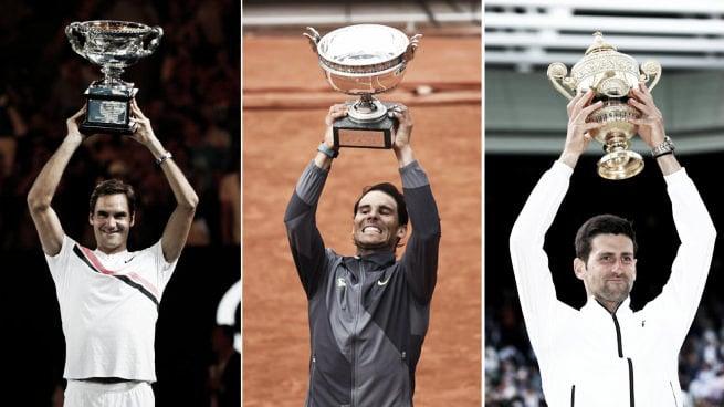 Los tenistas con más Grand Slam en la historia