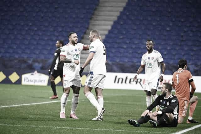 Lyon goleia, Lorient avança e Reims é eliminado da Coupe de France 2020-21
