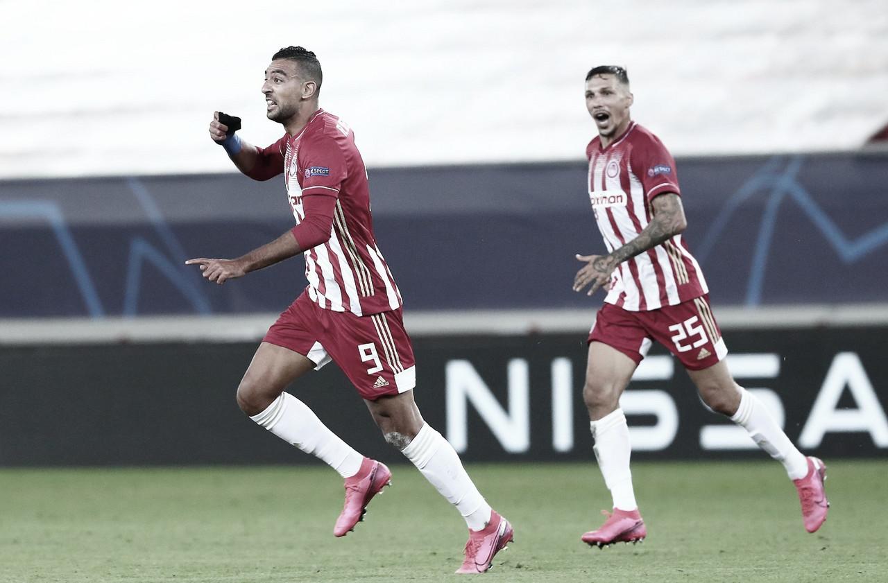 Nos acréscimos, Olympiacos estreia com vitória sobre Olympique de Marseille