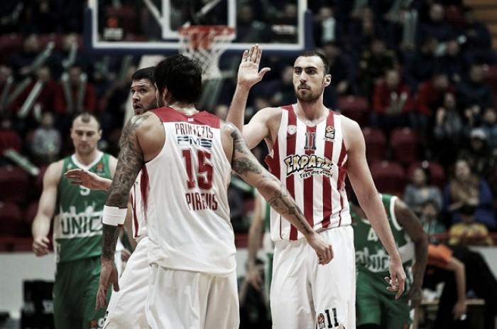 Eurolega - L'Olympiacos come i Warriors, Unics Kazan sommerso dalle triple