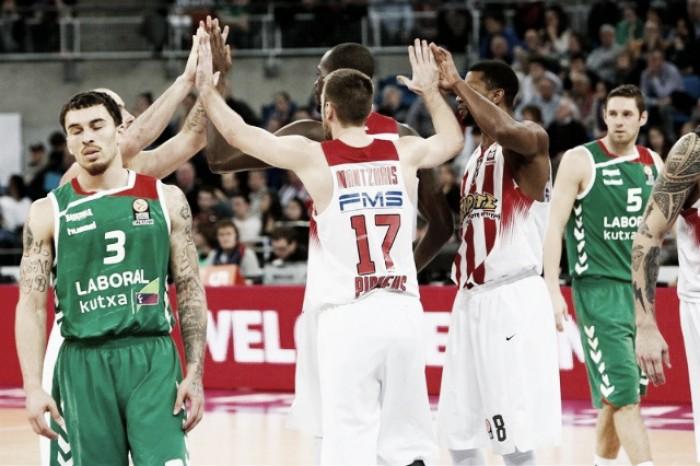 Eurolega, Top 16: colpi esterni di Olympiacos e Cedevita