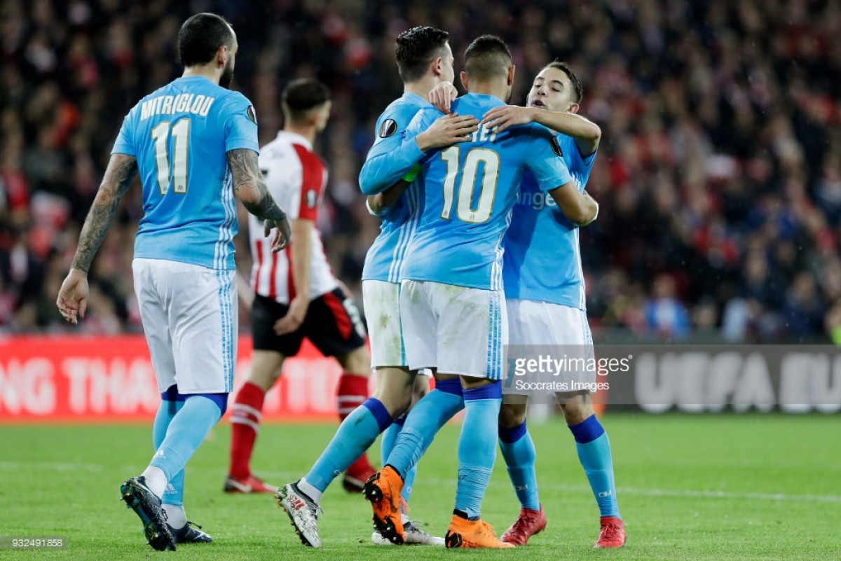 Athletic Bilbao (2) 1-2 (5) Marseille: Les Olympiens cruise past a poor Bilbao into the quarter-finals