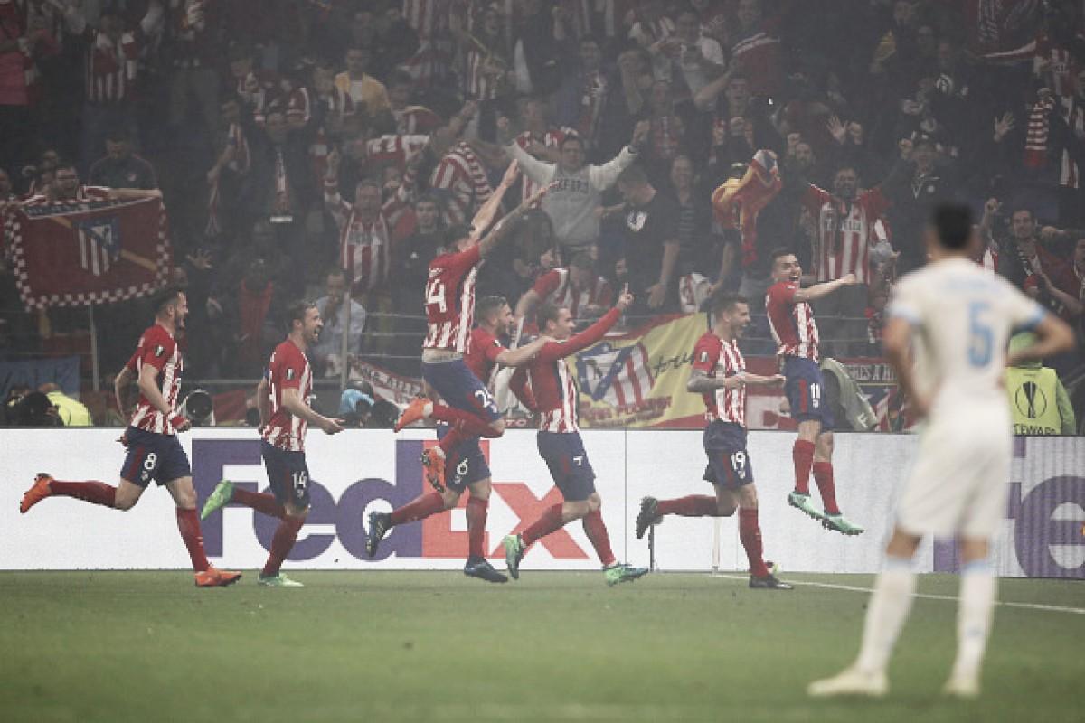 Griezmann marca dois, Atlético vence Marseille com autoridade e conquista tricampeonato da UEL