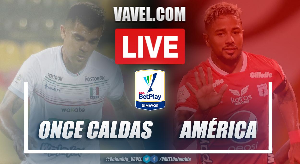 Resumen Once Caldas vs América (1-1) en la fecha 13 por Liga BetPlay 2021-I
