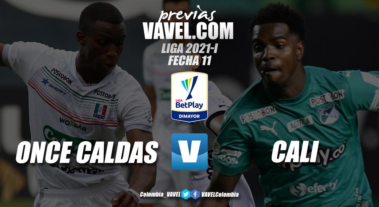 Previa Once Caldas vs Deportivo Cali: el 'blanco blanco' buscará derribar al líder