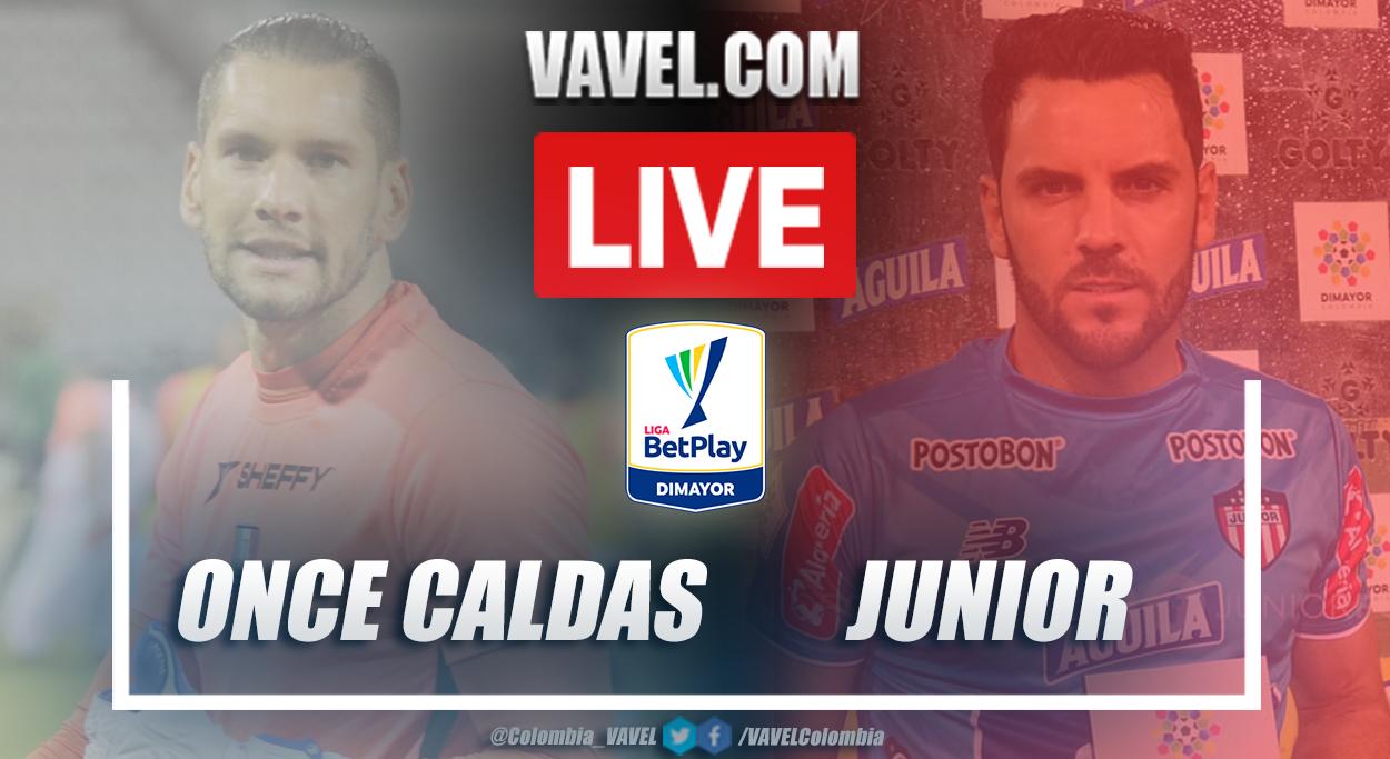 Resumen Once Caldas vs Junior (1-2) en la fecha 2 por Liga BetPlay 2021-I