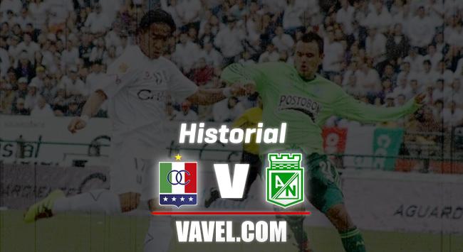 Historial entre Atlético Nacional y Once Caldas