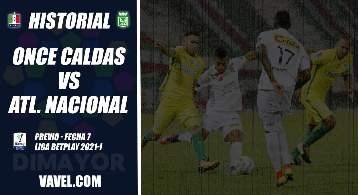 Historial Once Caldas vs Atlético Nacional: superioridad 'verdolaga'