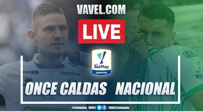 Resumen: Once Caldas vs Atlético Nacional (0-2) por la Liga BetPlay