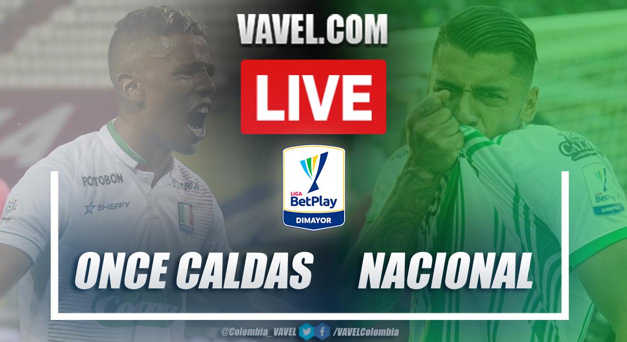 Resumen Once Caldas vs Nacional (0-1) en la fecha 7 por Liga BetPlay 2021-I