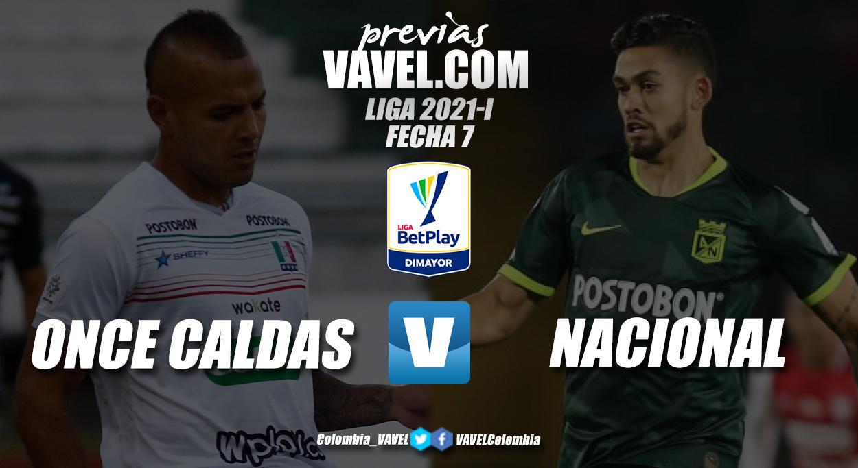 Previa Once Caldas vs Atlético Nacional: duelo con alta probabilidad goleadora