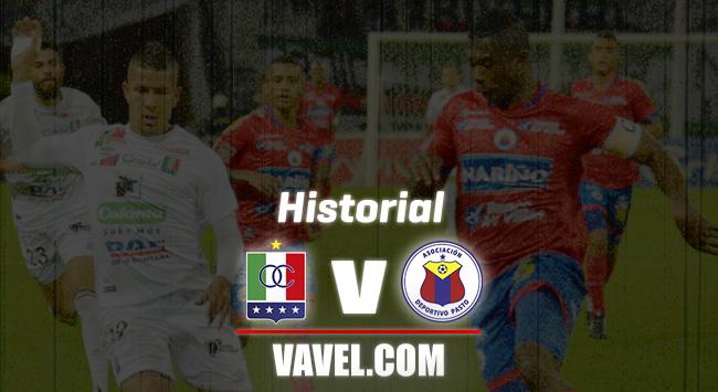 HIstorial entre Once Caldas y Deportivo Pasto