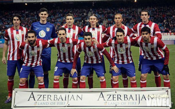 Courtois, Filipe Luis, Koke y Costa, en el once ideal de la Liga