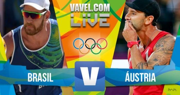 Brasil x Áustria no vôlei de praia masculino dos Jogos Olímpicos (1-1)