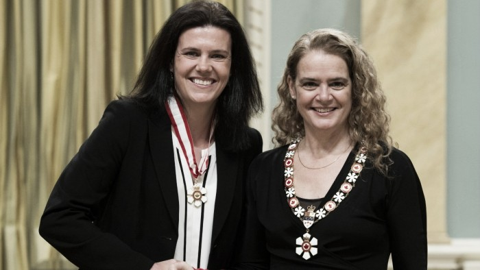 Christine Sinclair receives Order of Canada