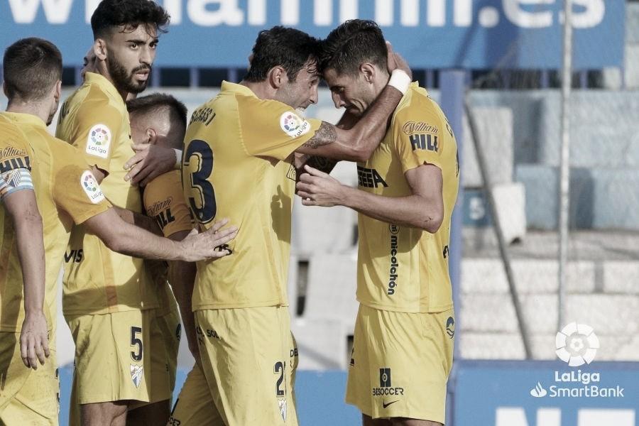 Celebración del gol de Chavarría. / Foto: LaLiga.