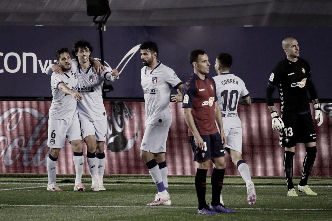 Atlético de Madrid goleia Osasuna e entra na zona de classificação à Champions League