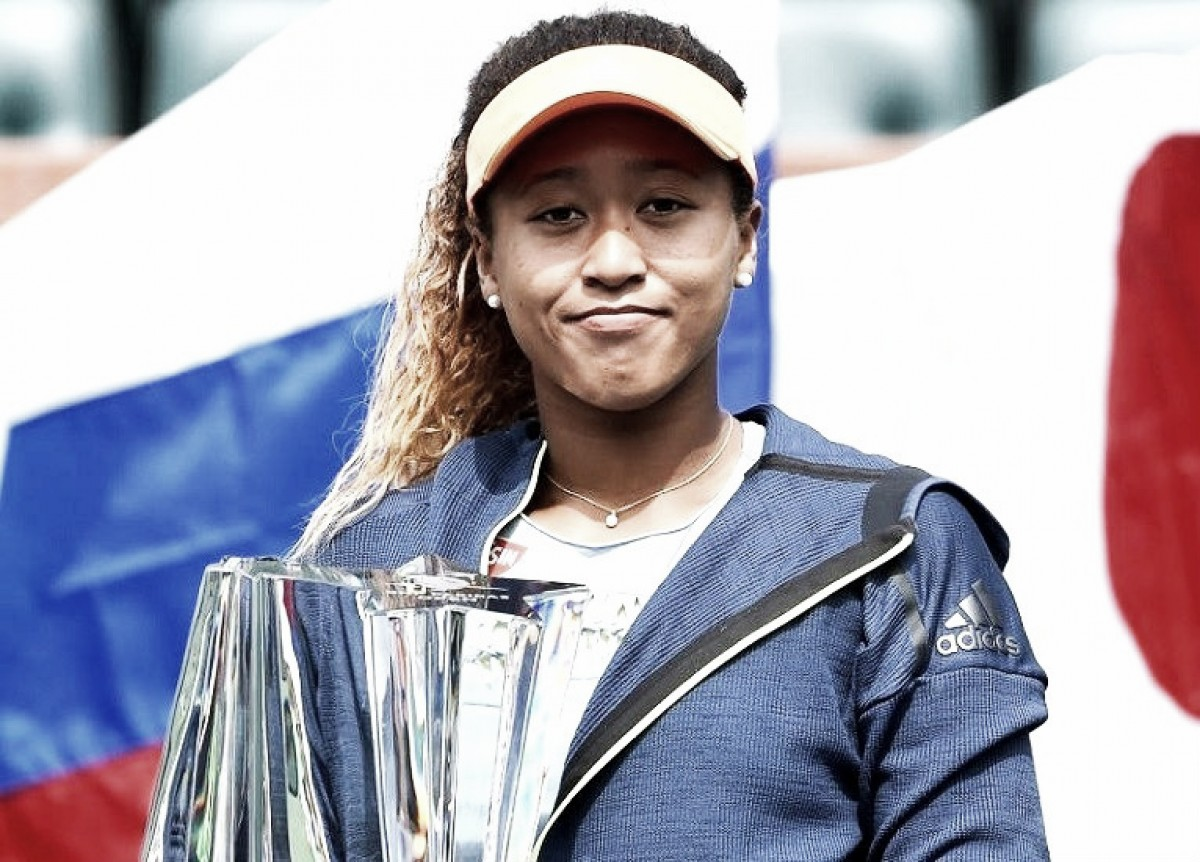 Osaka pasa de ser desconocida a campeona en Indian Wells