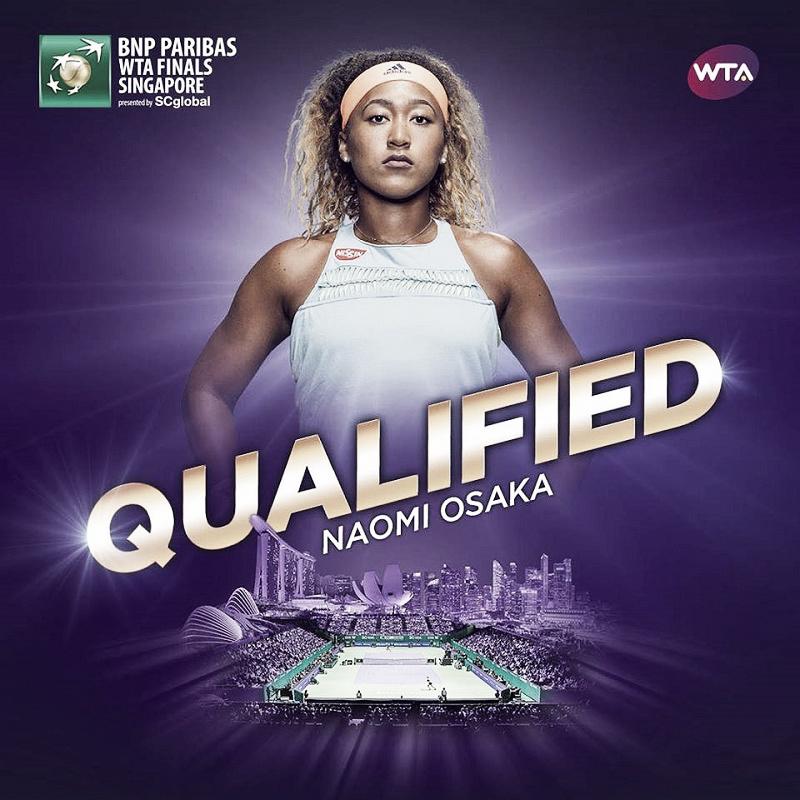 Naomi Osaka qualifies for WTA Finals
