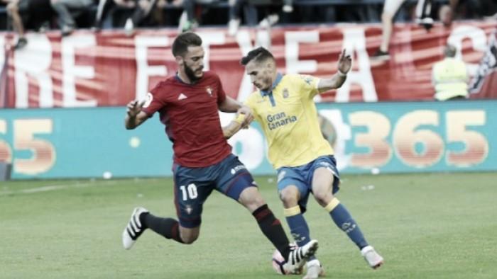 Las Palmas sai atrás, busca empate no fim e mantém Osasuna sem vencer no Espanhol