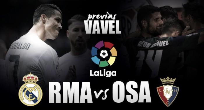 No retorno de CR7, Real Madrid recebe Osasuna visando manter invencibilidade