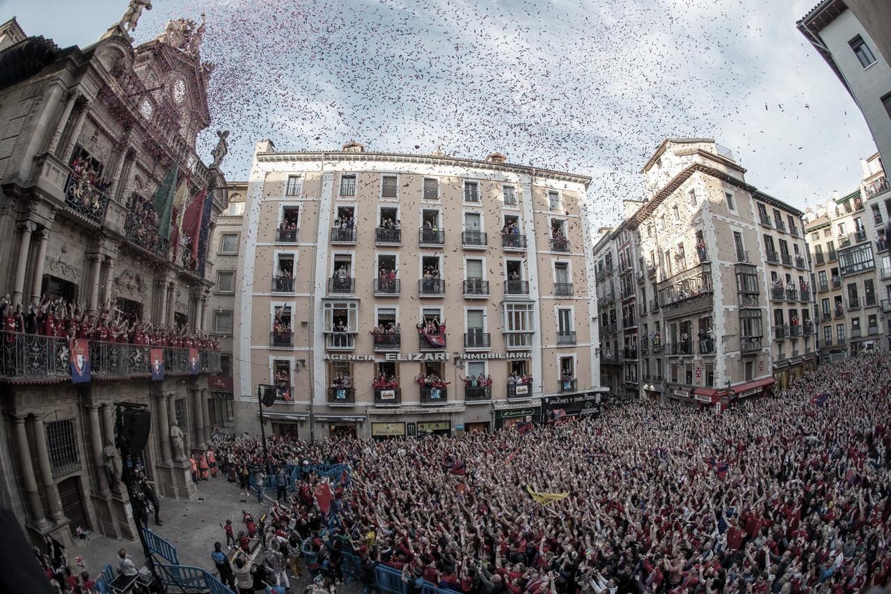 Dos días de celebración en Pamplona por el ascenso de Osasuna